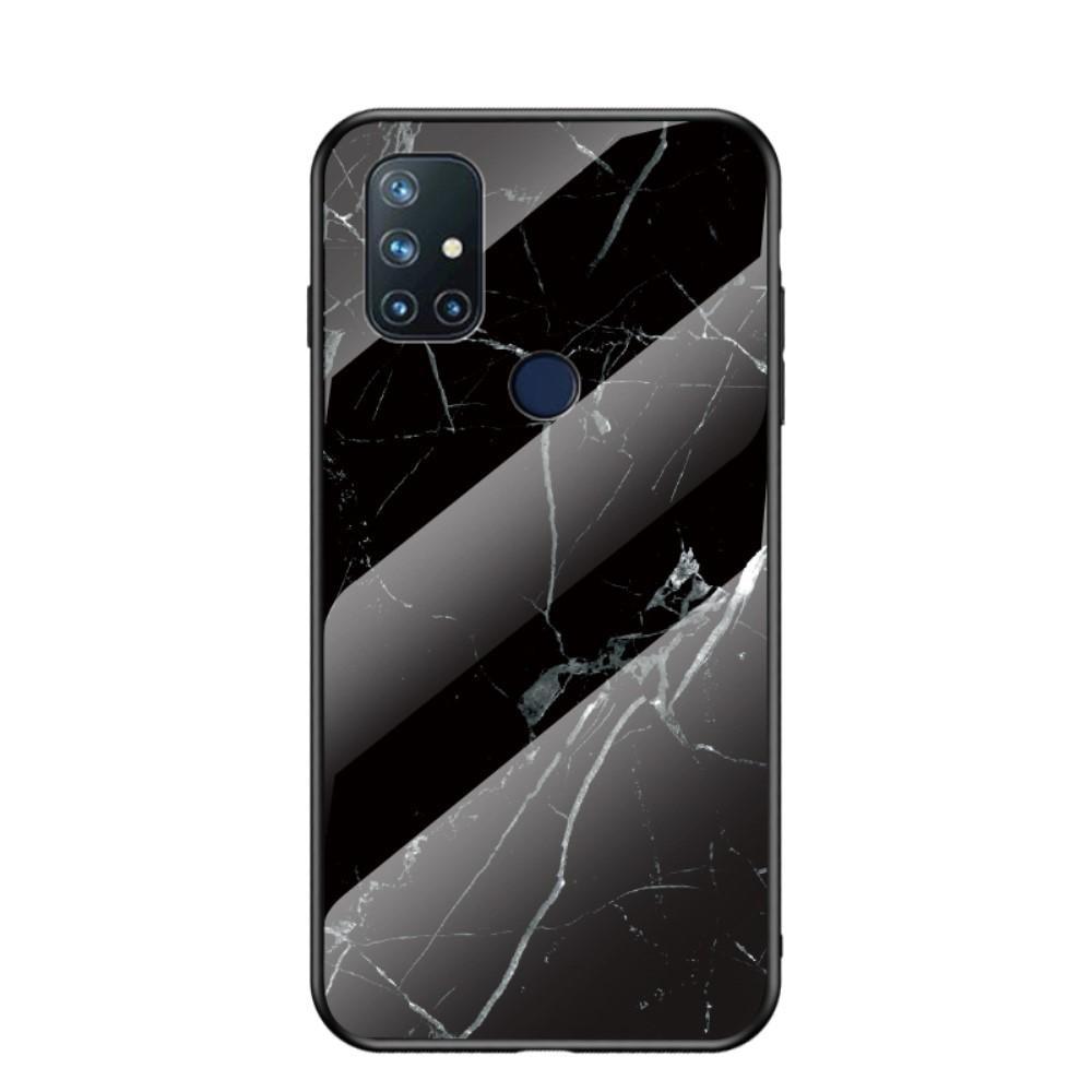 Skal Härdat Glas OnePlus Nord N10 5G svart marmor
