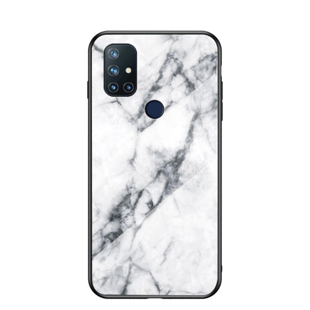 Skal Härdat Glas OnePlus Nord N10 5G vit marmor