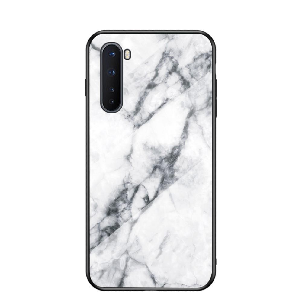 Skal Härdat Glas OnePlus Nord vit marmor