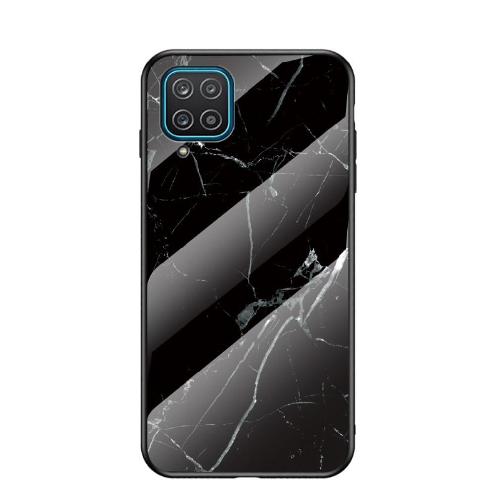 Skal Härdat Glas Samsung Galaxy A12 svart marmor