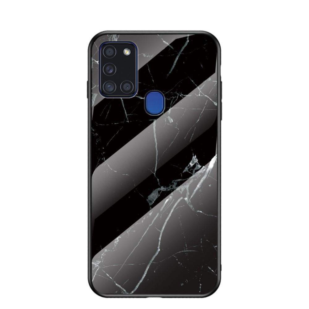 Skal Härdat Glas Samsung Galaxy A21s svart marmor