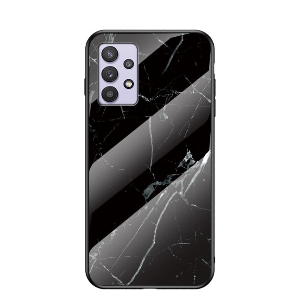 Skal Härdat Glas Samsung Galaxy A32 5G svart marmor