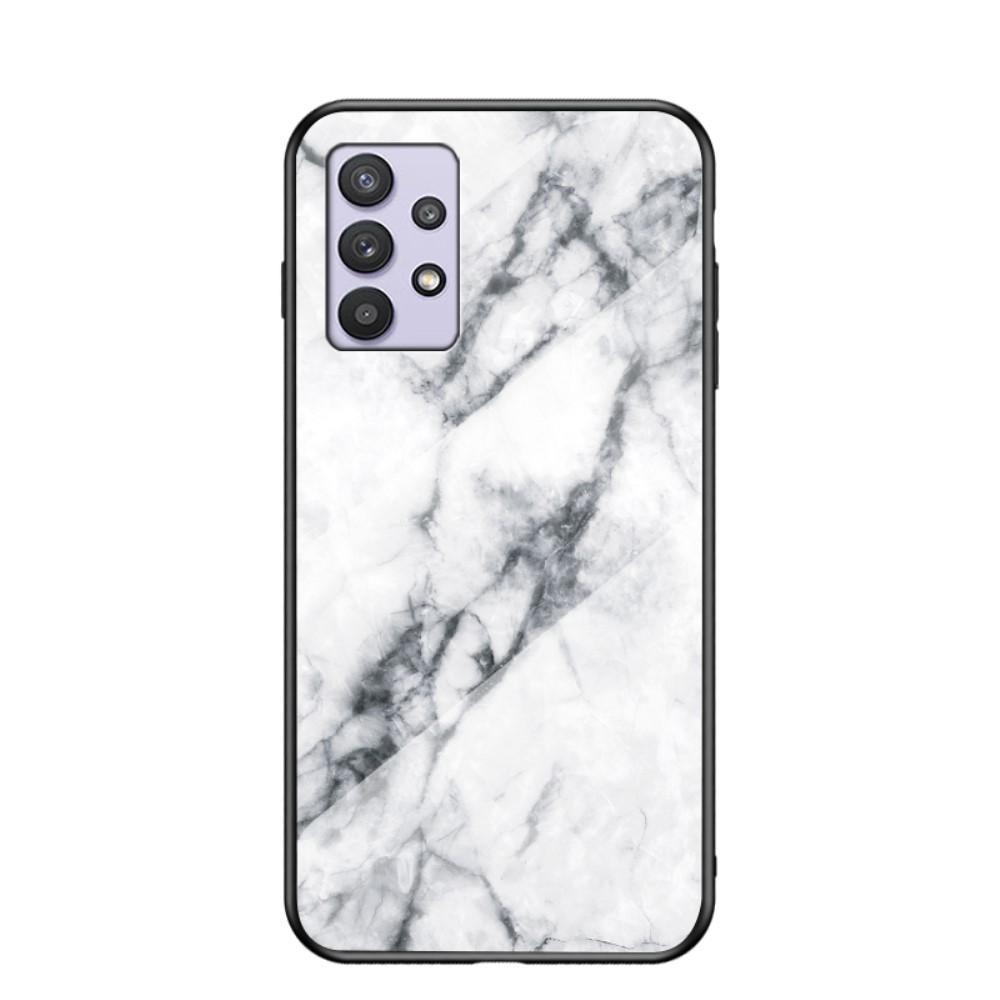 Skal Härdat Glas Samsung Galaxy A32 5G vit marmor