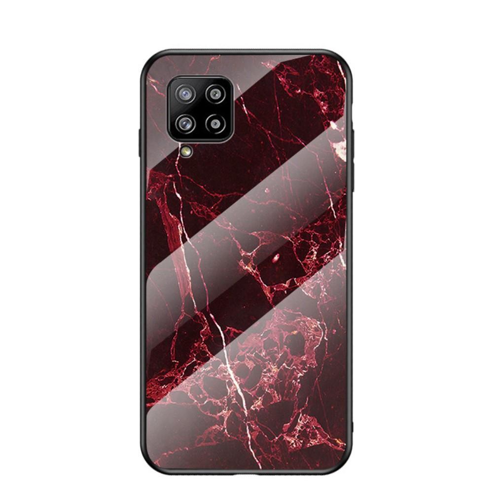 Skal Härdat Glas Samsung Galaxy A42 5G röd marmor