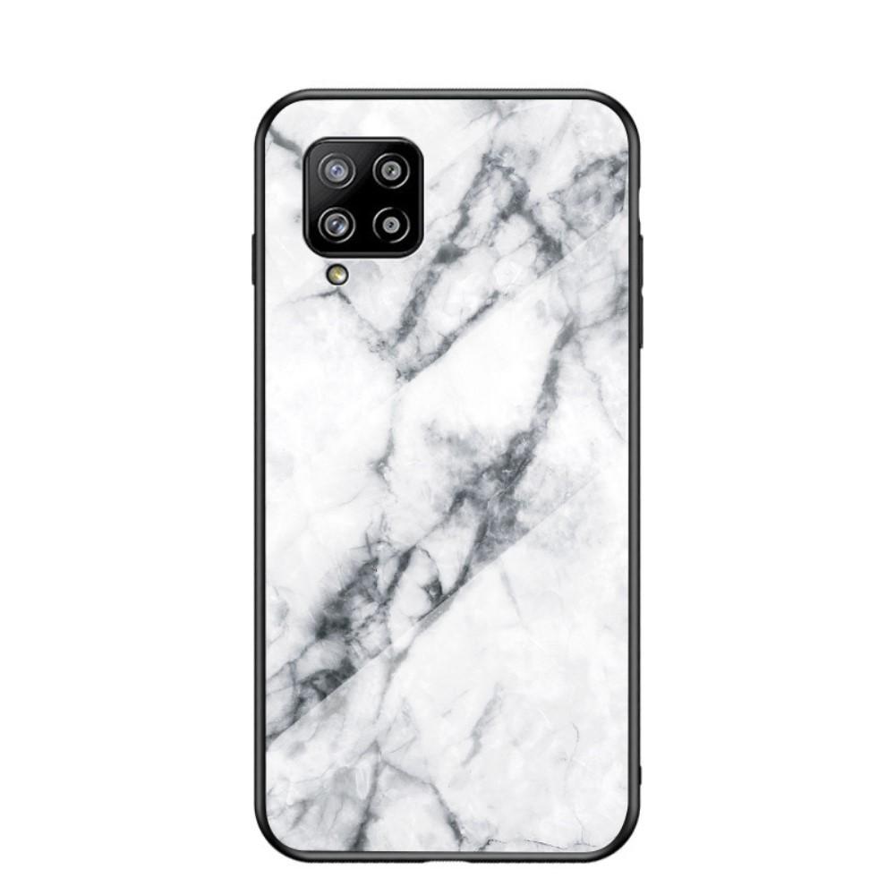 Skal Härdat Glas Samsung Galaxy A42 5G vit marmor