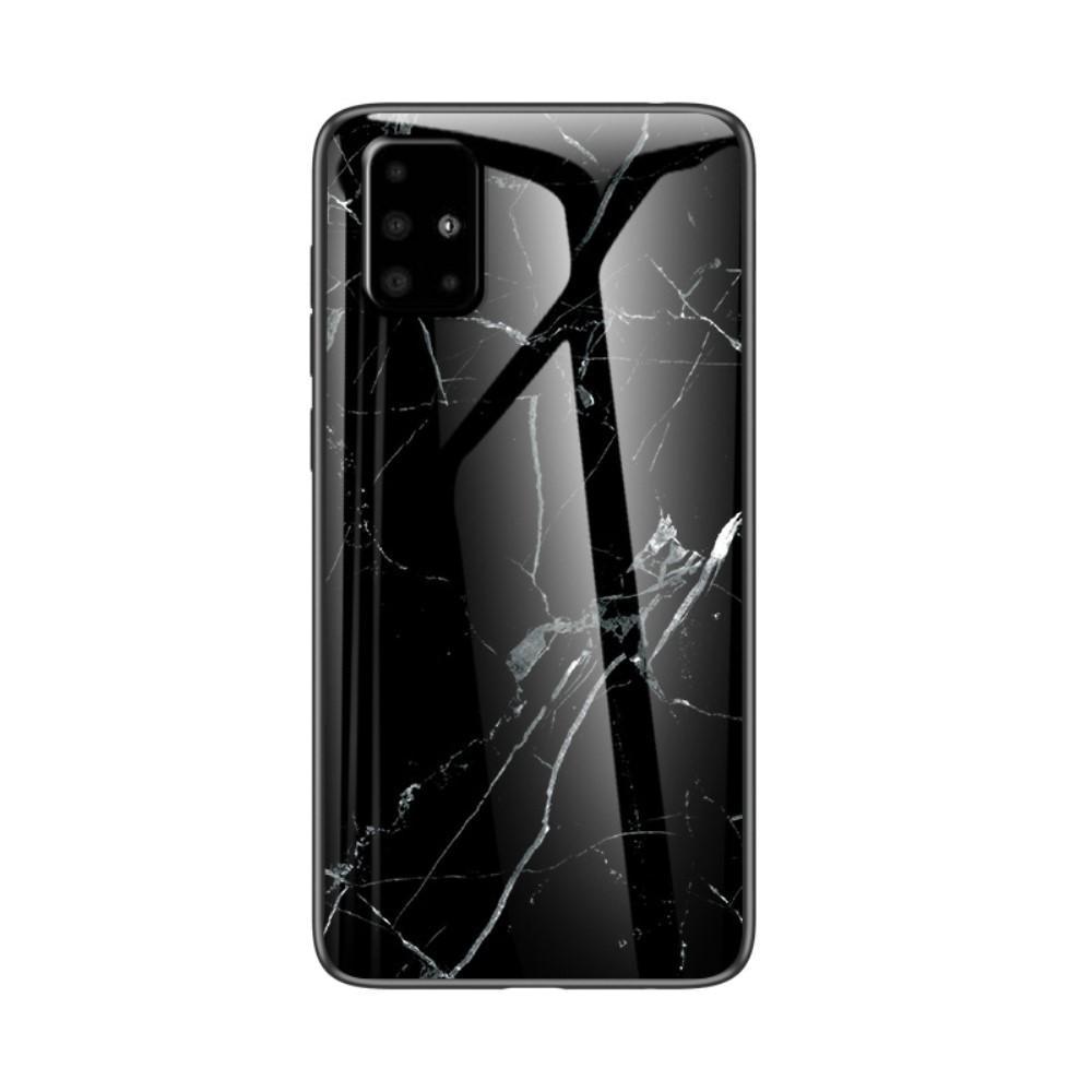Skal Härdat Glas Samsung Galaxy A51 svart marmor