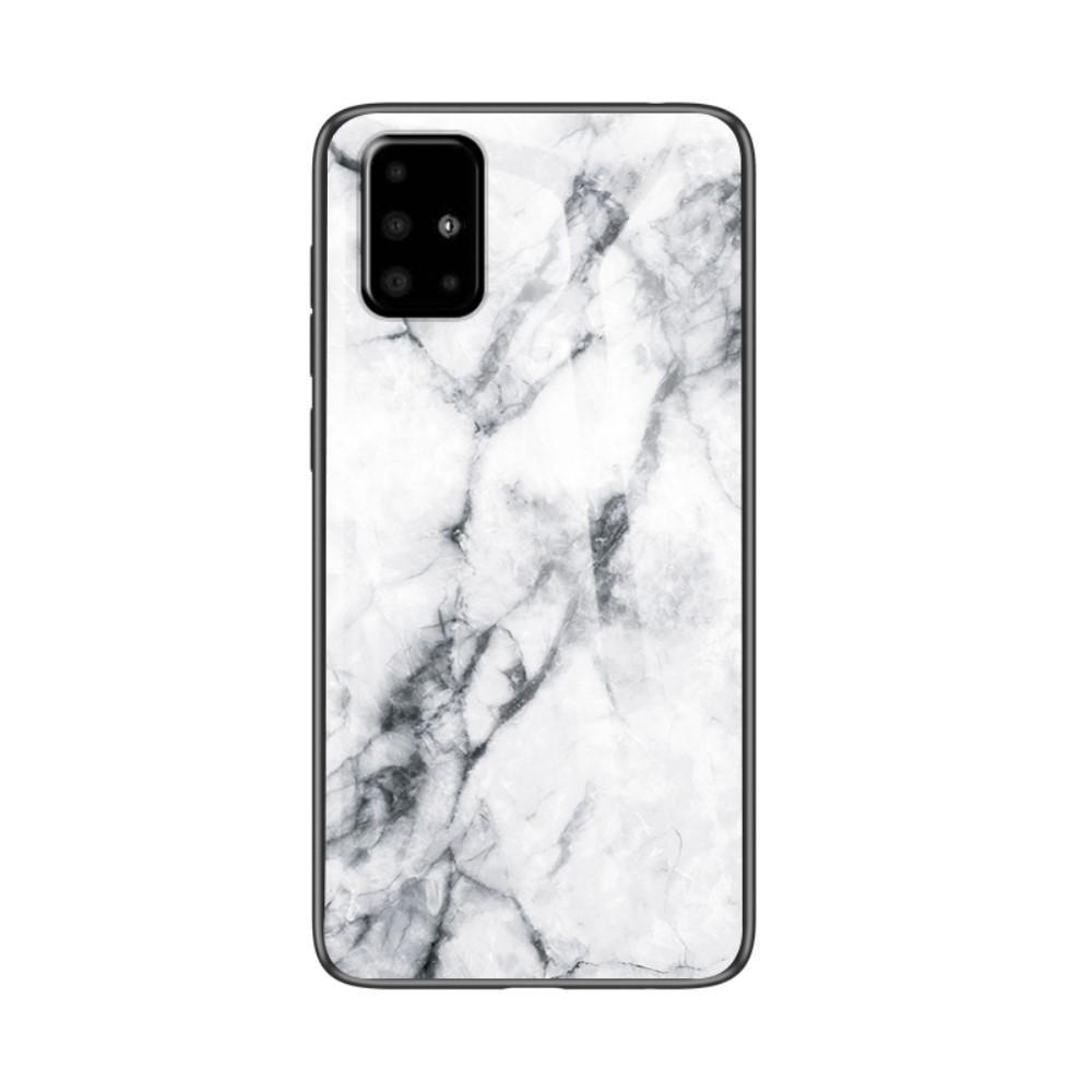 Skal Härdat Glas Samsung Galaxy A51 vit marmor