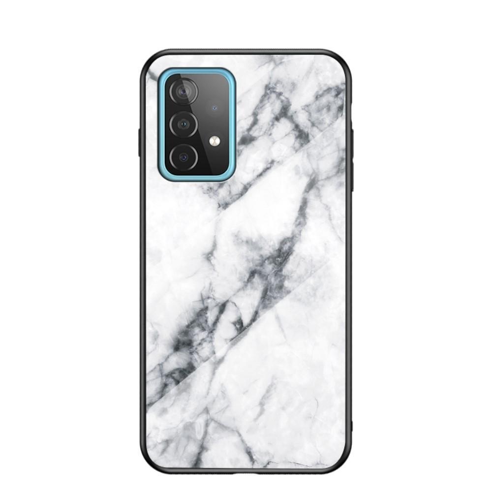 Skal Härdat Glas Samsung Galaxy A52 5G vit marmor