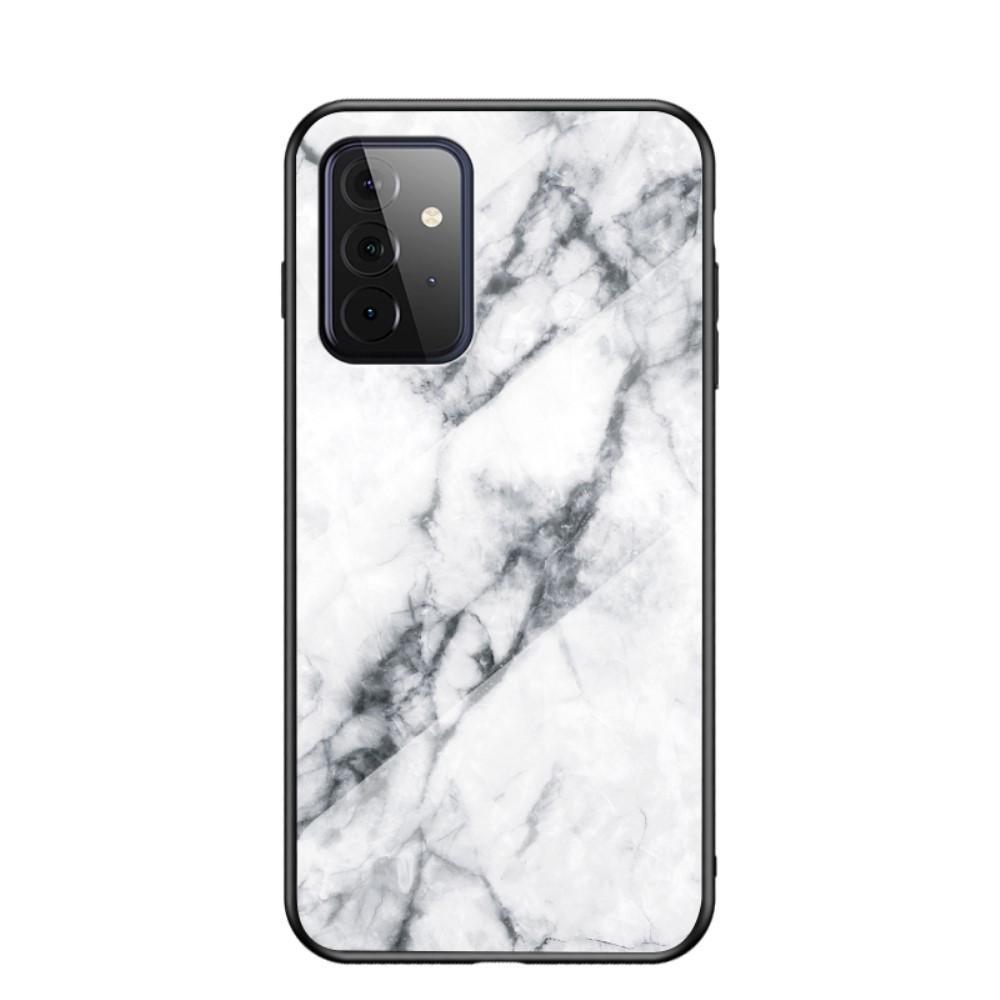 Skal Härdat Glas Samsung Galaxy A72 5G vit marmor