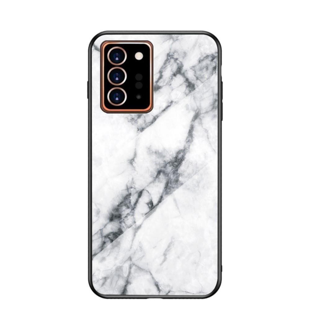 Skal Härdat Glas Samsung Galaxy Note 20 Ultra vit marmor