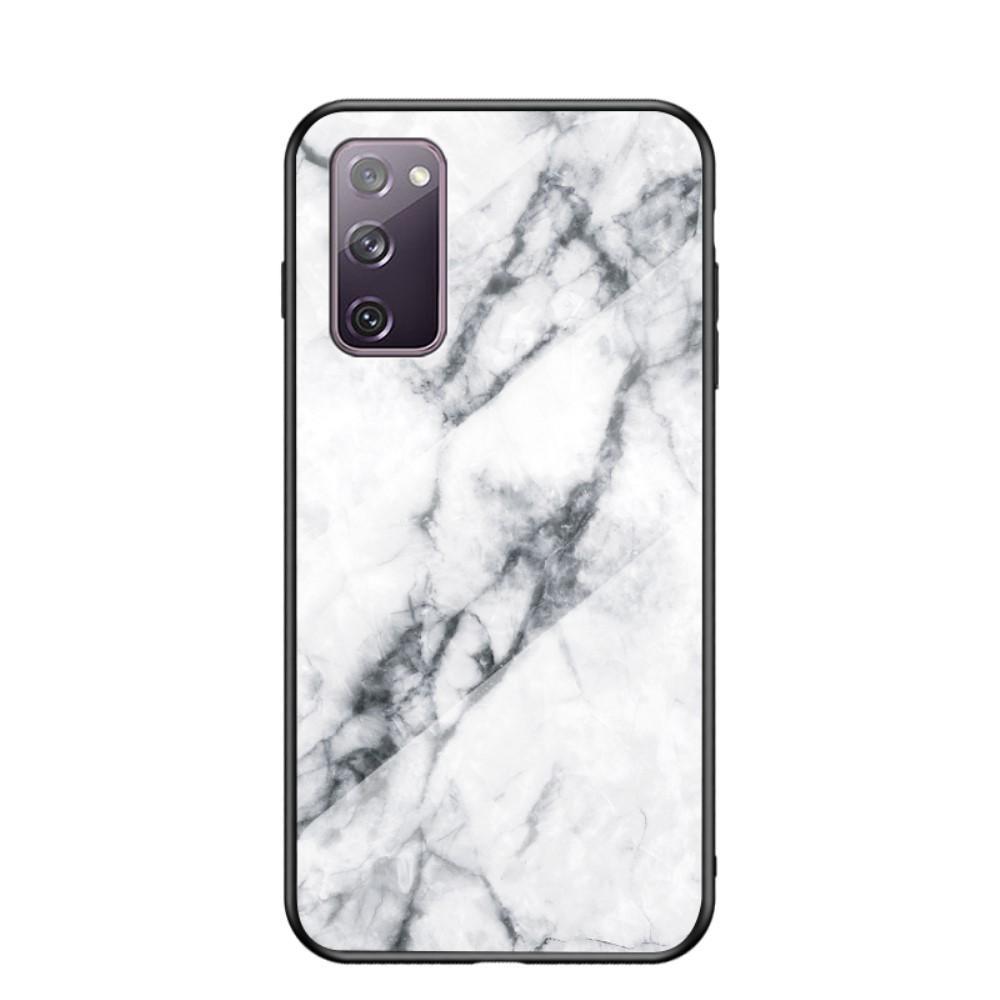 Skal Härdat Glas Samsung Galaxy S20 FE vit marmor