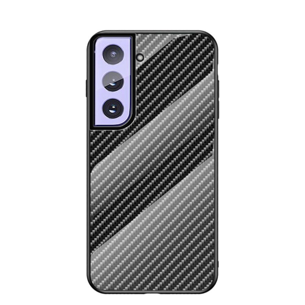 Skal Härdat Glas Samsung Galaxy S21 kolfiber