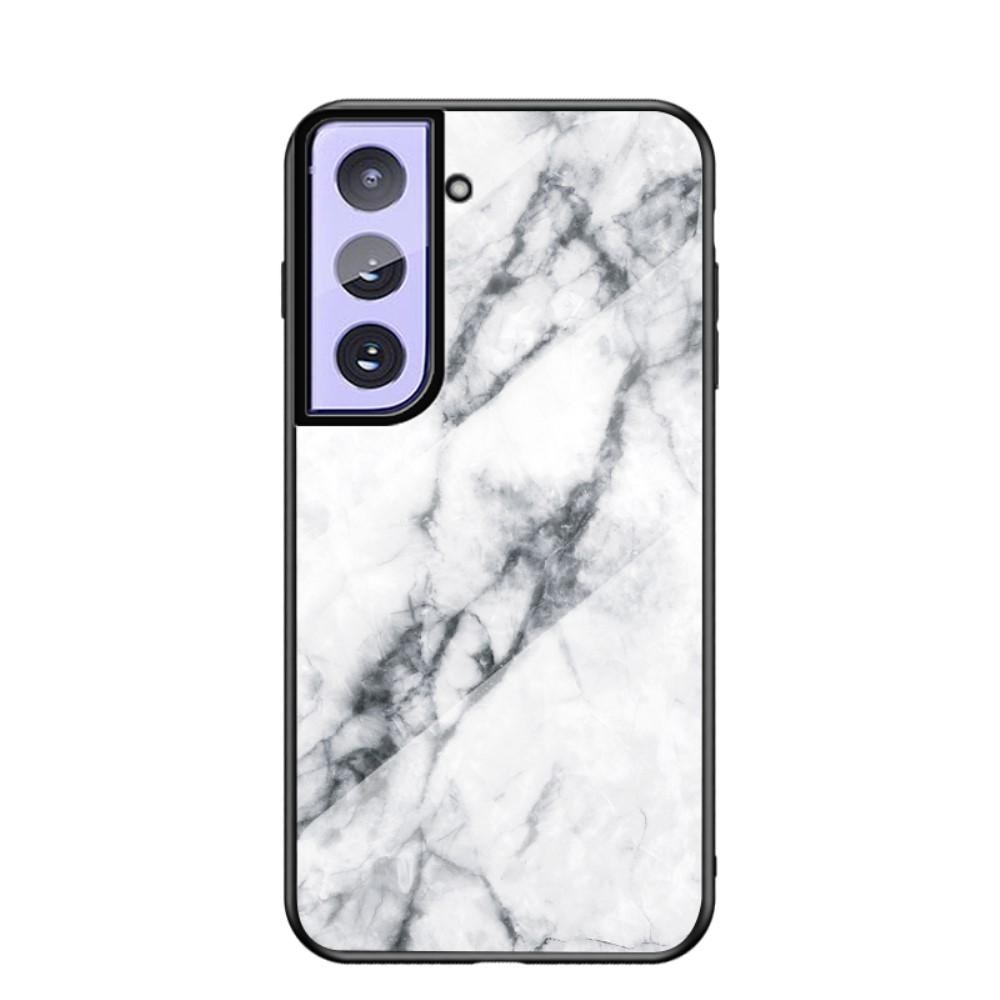 Skal Härdat Glas Samsung Galaxy S21 Plus vit marmor