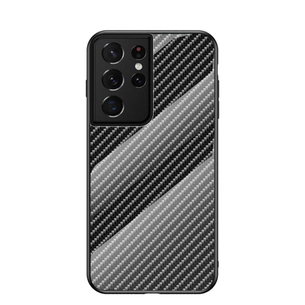 Skal Härdat Glas Samsung Galaxy S21 Ultra kolfiber