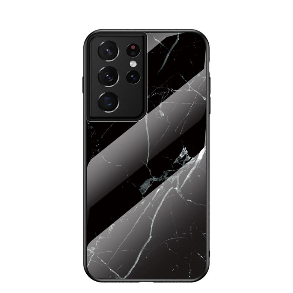 Skal Härdat Glas Samsung Galaxy S21 Ultra svart marmor