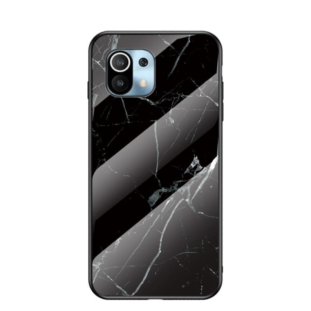 Skal Härdat Glas Xiaomi Mi 11 svart marmor