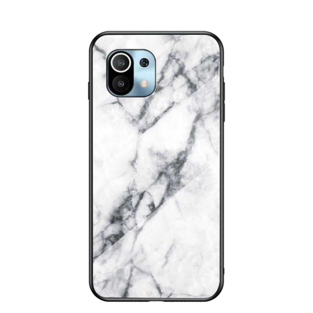 Skal Härdat Glas Xiaomi Mi 11 vit marmor