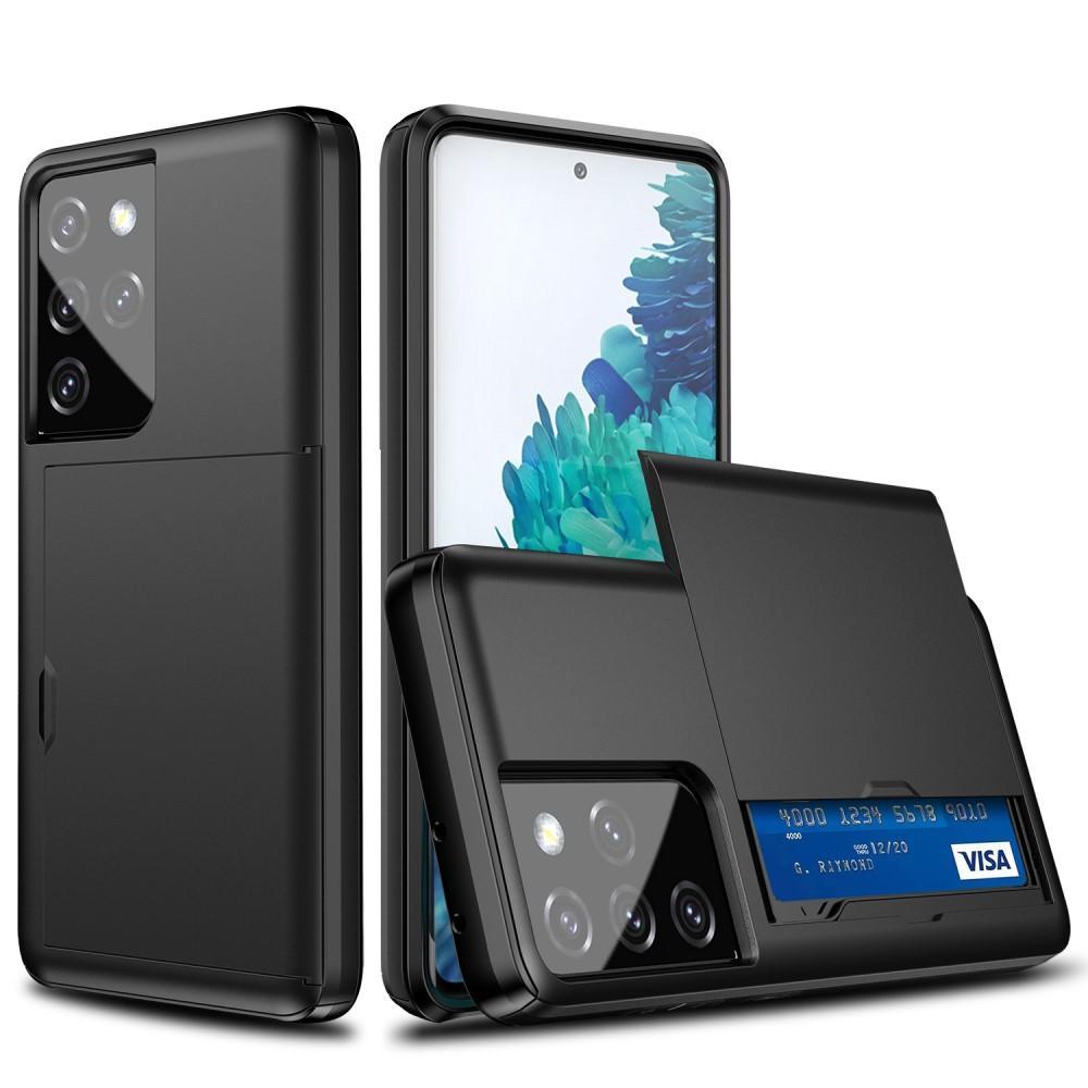 Skal Kortfack Samsung Galaxy S21 Ultra  svart
