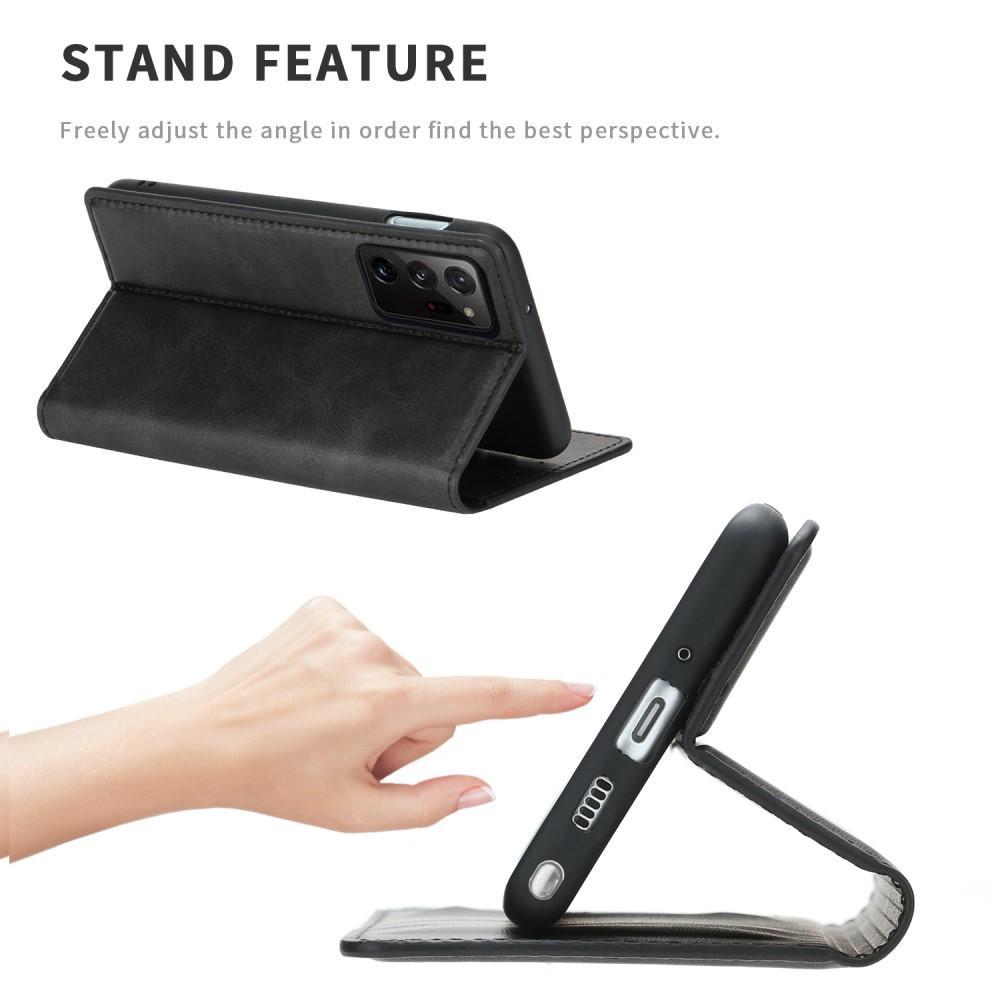 Slim Läderfodral Galaxy Note 20 Ultra svart