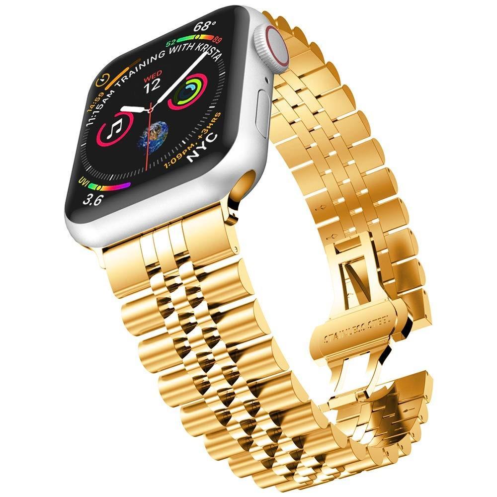 Stainless Steel Bracelet Apple Watch 42/44/45 mm Gold