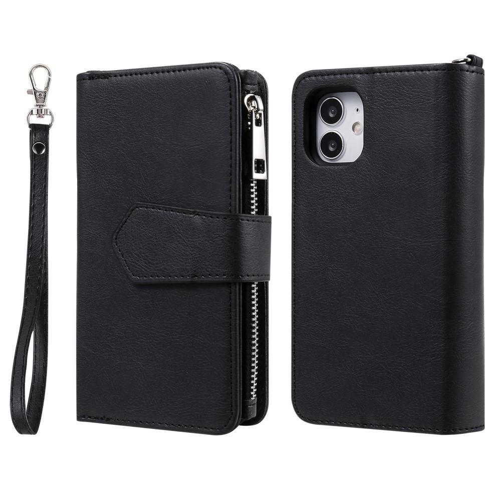 Zipper Magnet Wallet iPhone 12 Mini svart