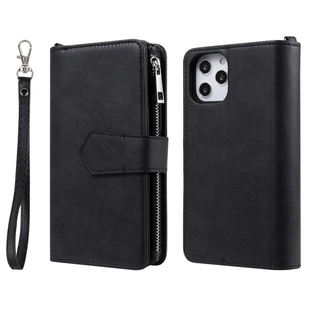 Zipper Magnet Wallet iPhone 12 Pro Max svart