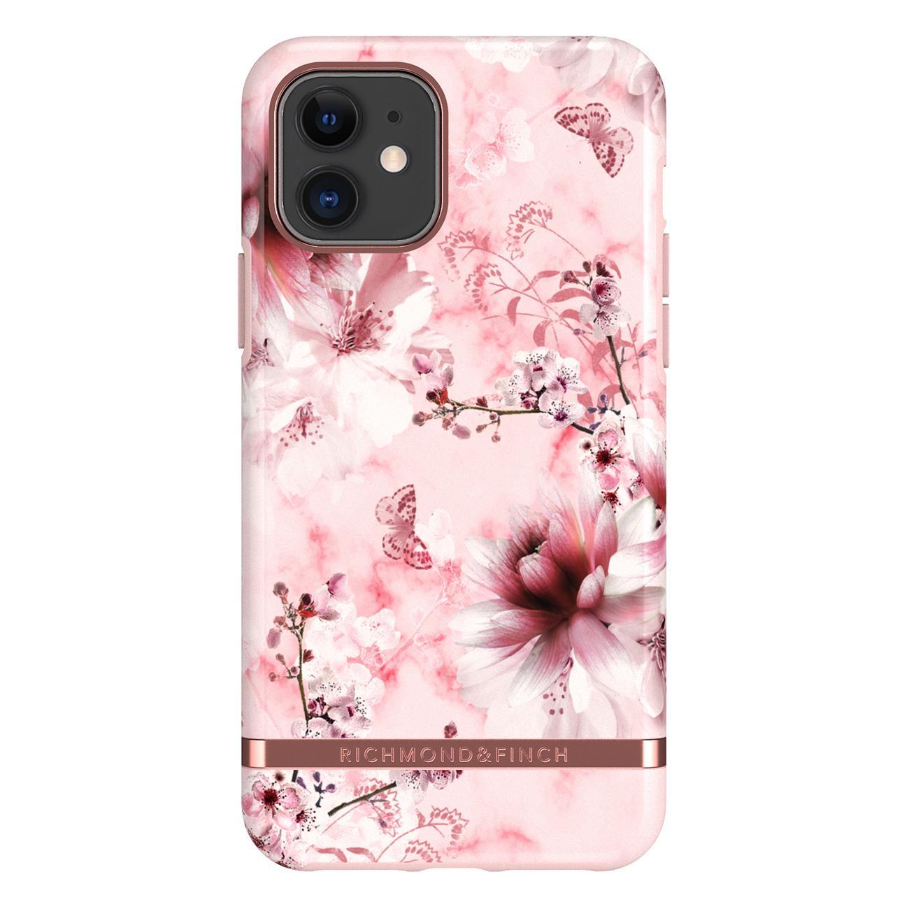 Skal iPhone 11 Pink Marble Floral