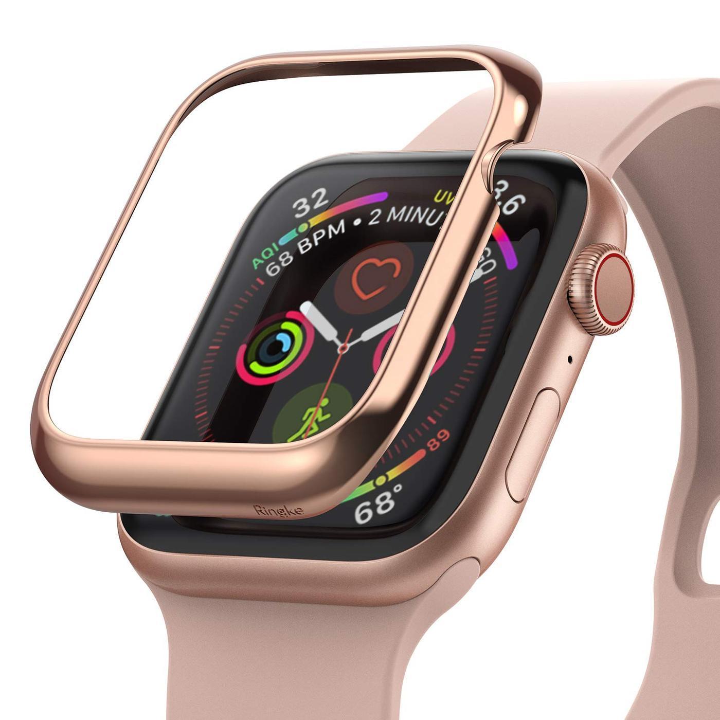 Bezel Styling Apple Watch 44mm Glossy Pink Gold