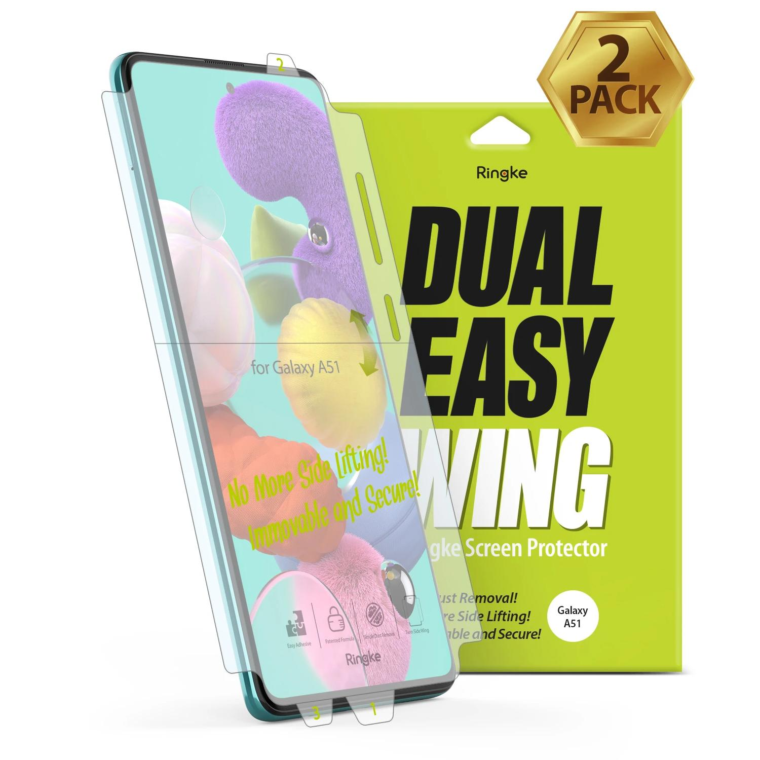 Dual Easy Wing Screen Protector Galaxy A51 (2-pack)
