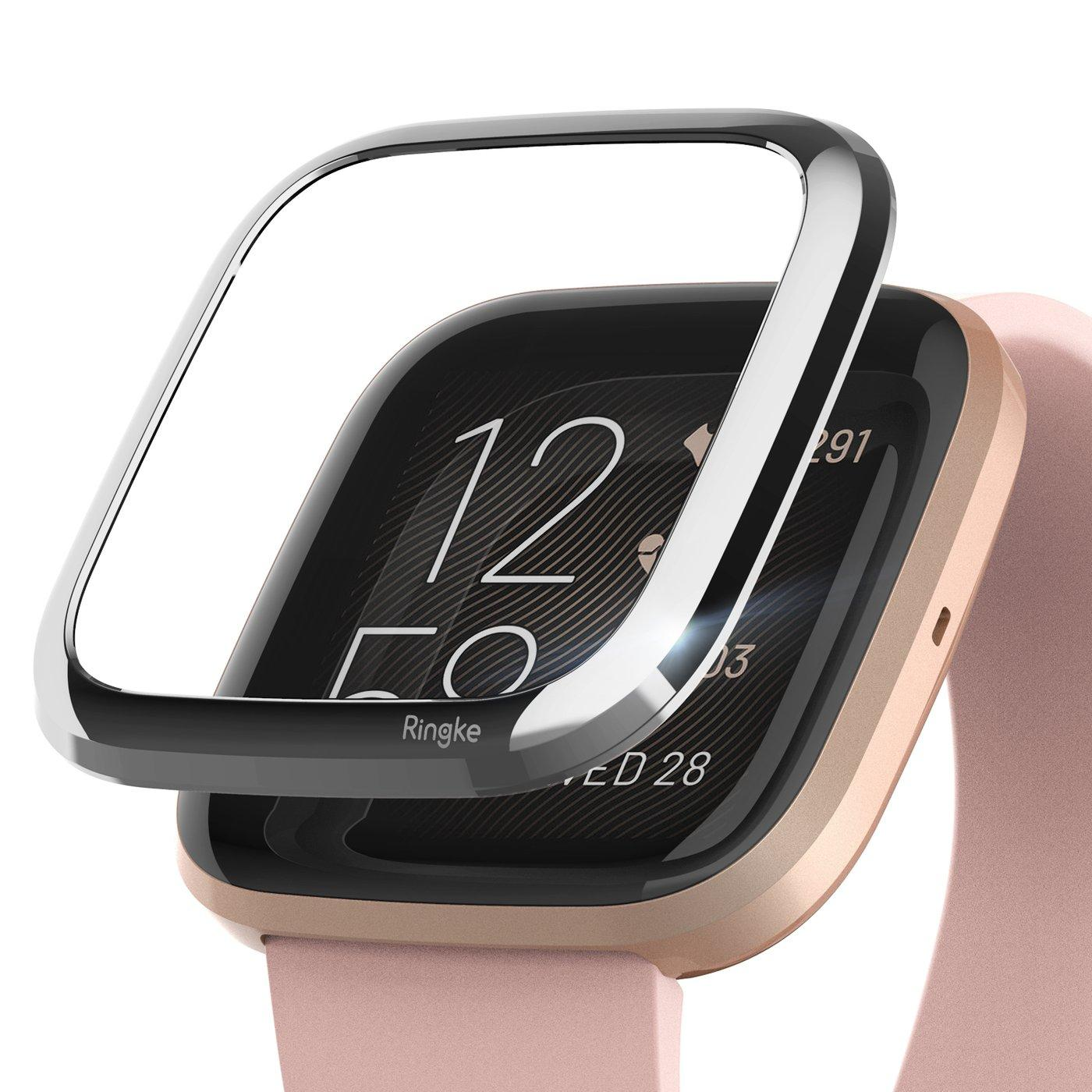 Bezel Styling Fitbit Versa 2 Glossy Silver