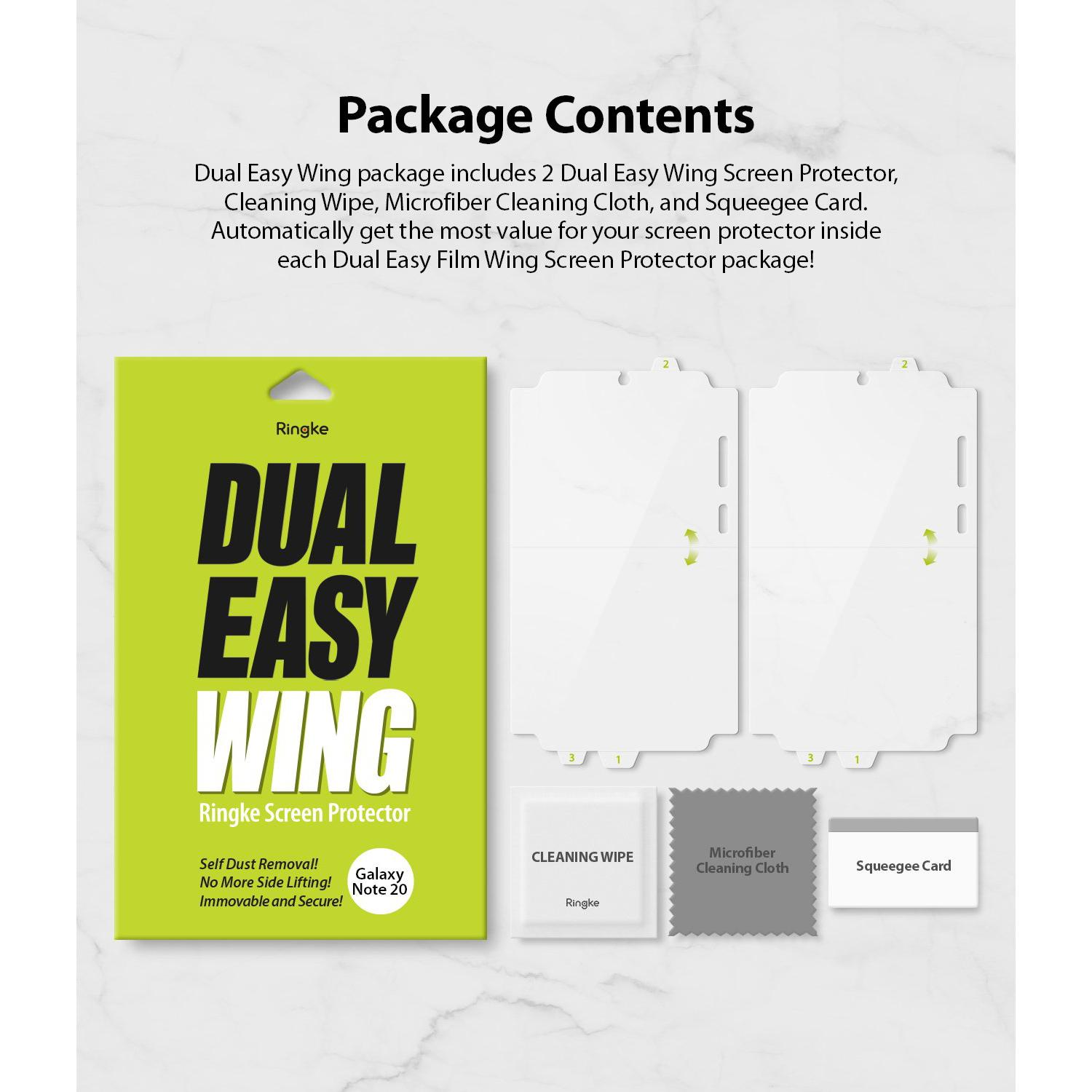 Dual Easy Wing Screen Protector Galaxy Note 20 (2-pack)