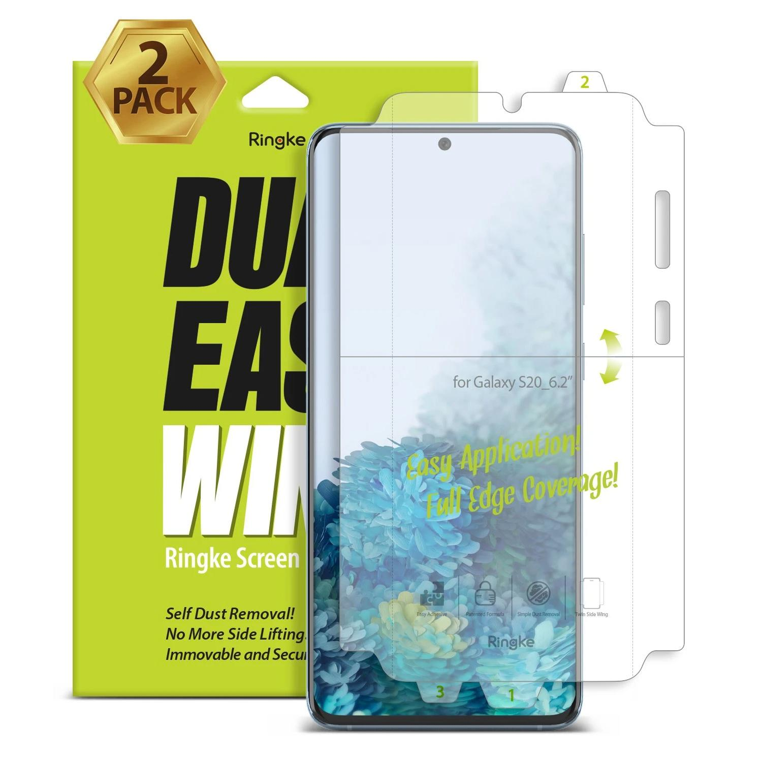 Dual Easy Wing Screen Protector Galaxy S20 (2-pack)