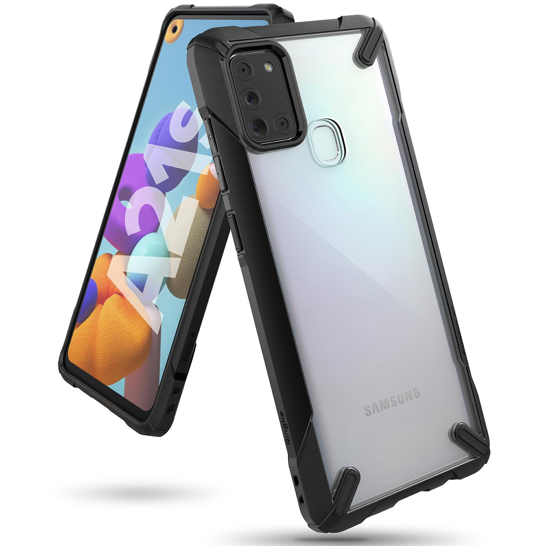 Fusion X Case Galaxy A21s Black