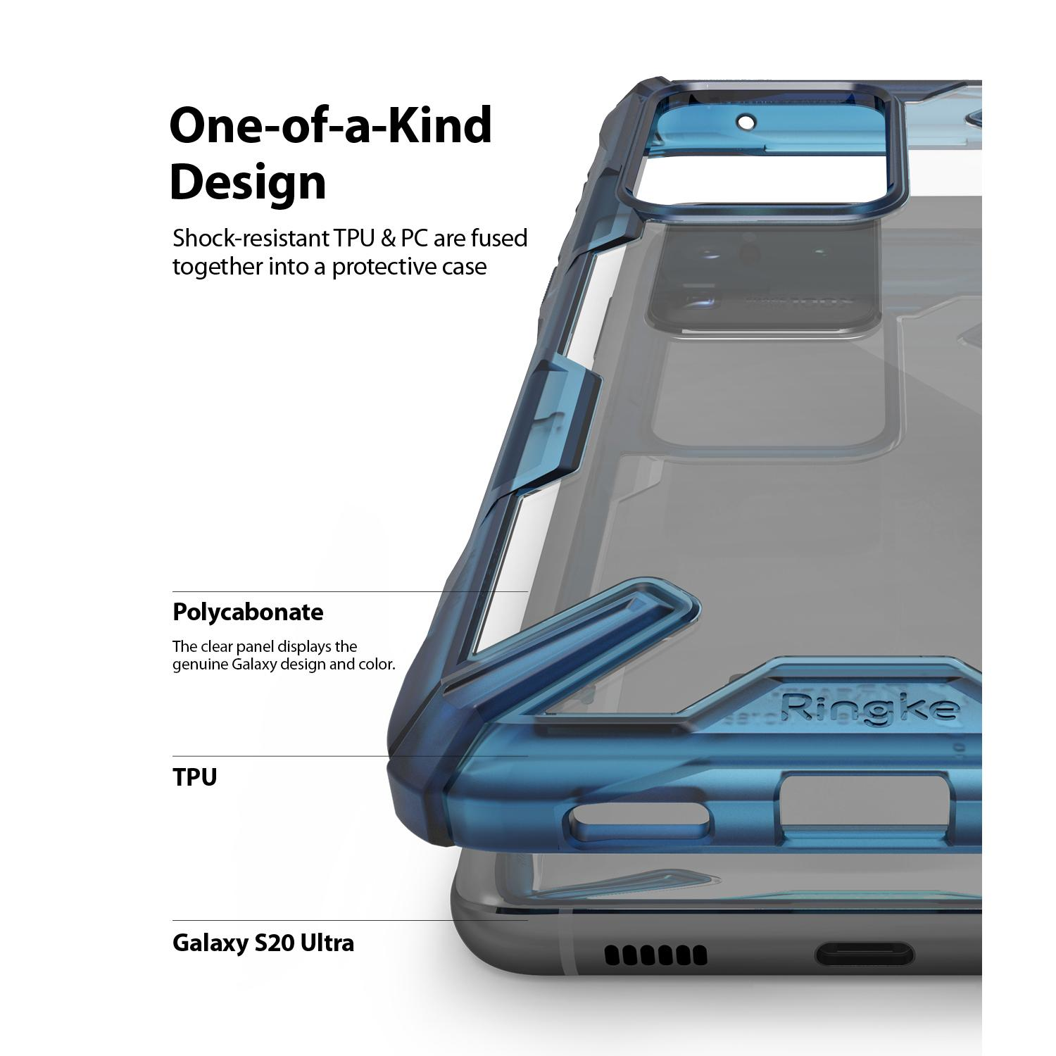 Fusion X Case Galaxy S20 Ultra Space Blue
