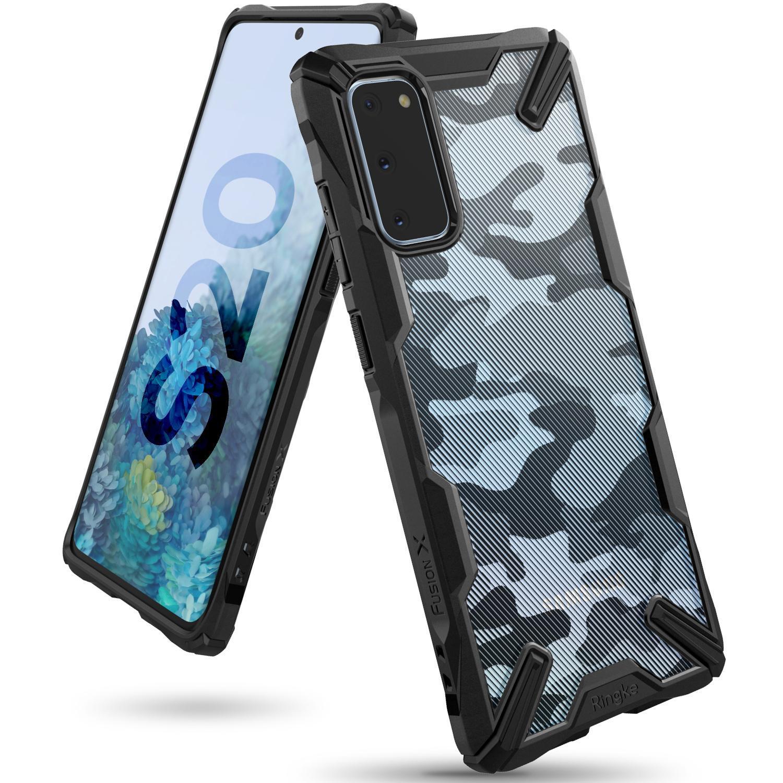 Fusion X Design Case Galaxy S20 Camo Black