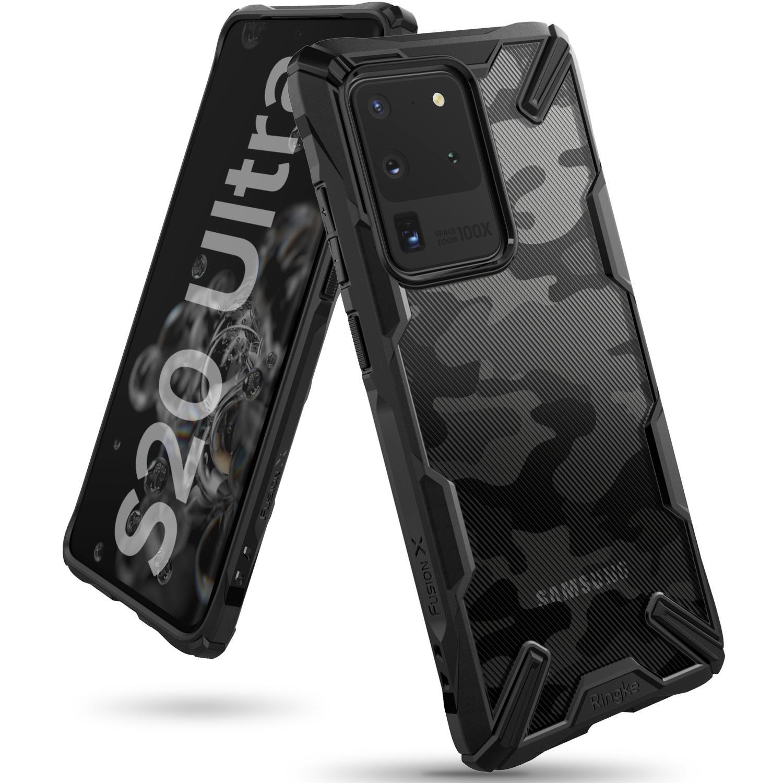 Fusion X Design Case Galaxy S20 Ultra Camo Black