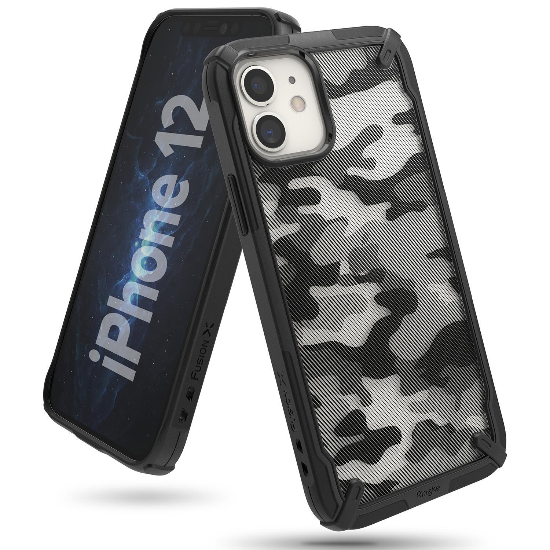 Fusion X Design Case iPhone 12/12 Pro Camo Black