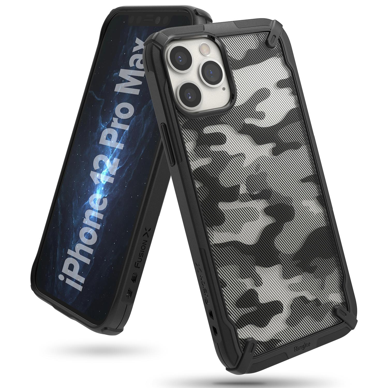 Fusion X Design Case iPhone 12 Pro Max Camo Black