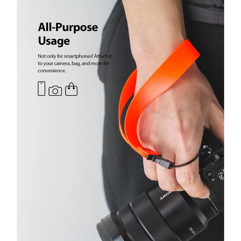 Hand Strap Neon Orange