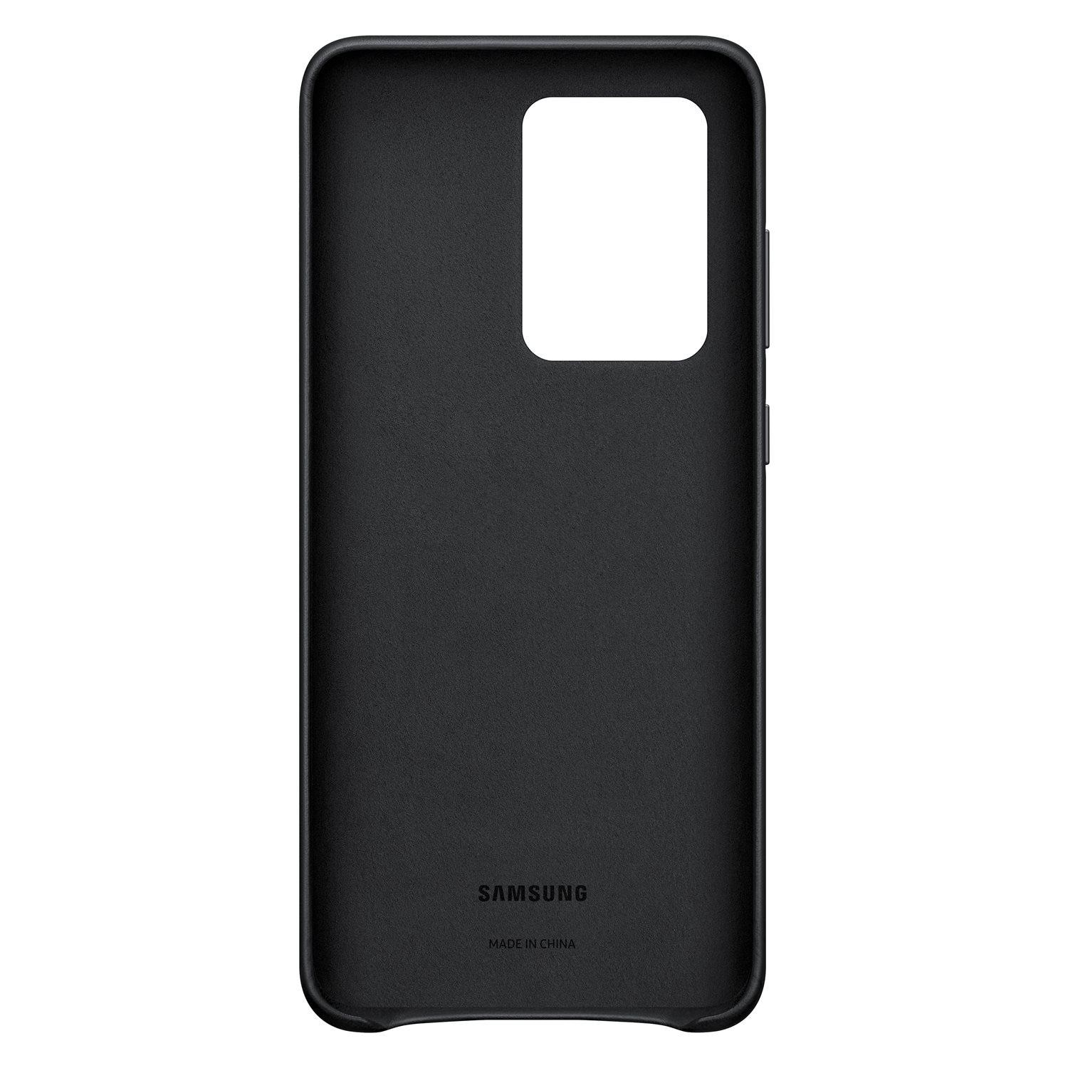 Leather Cover Galaxy S20 Ultra Black