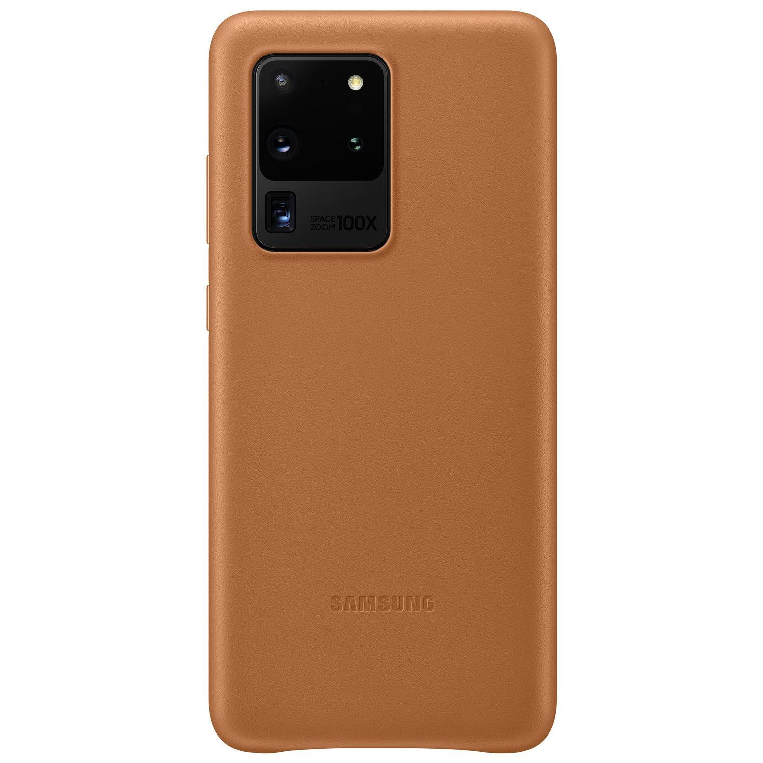 Leather Cover Galaxy S20 Ultra Brown
