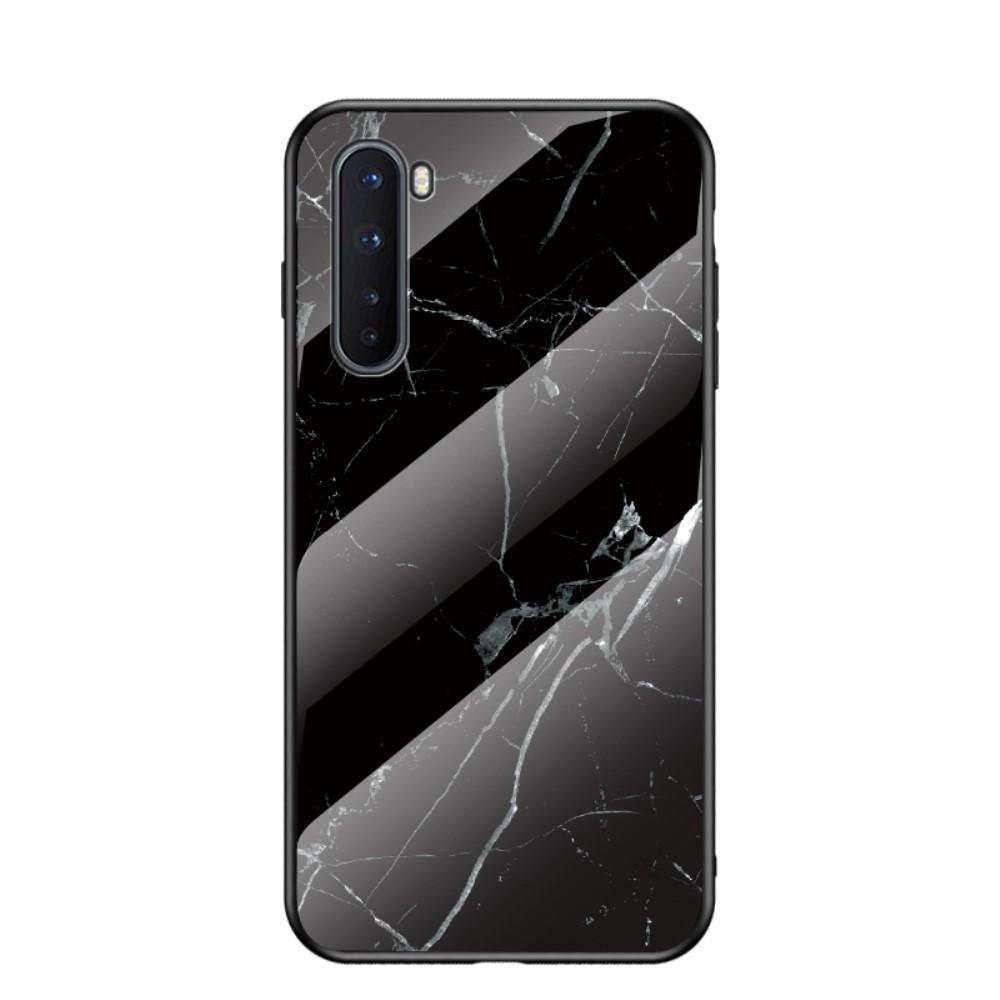 Skal Härdat Glas OnePlus Nord svart marmor