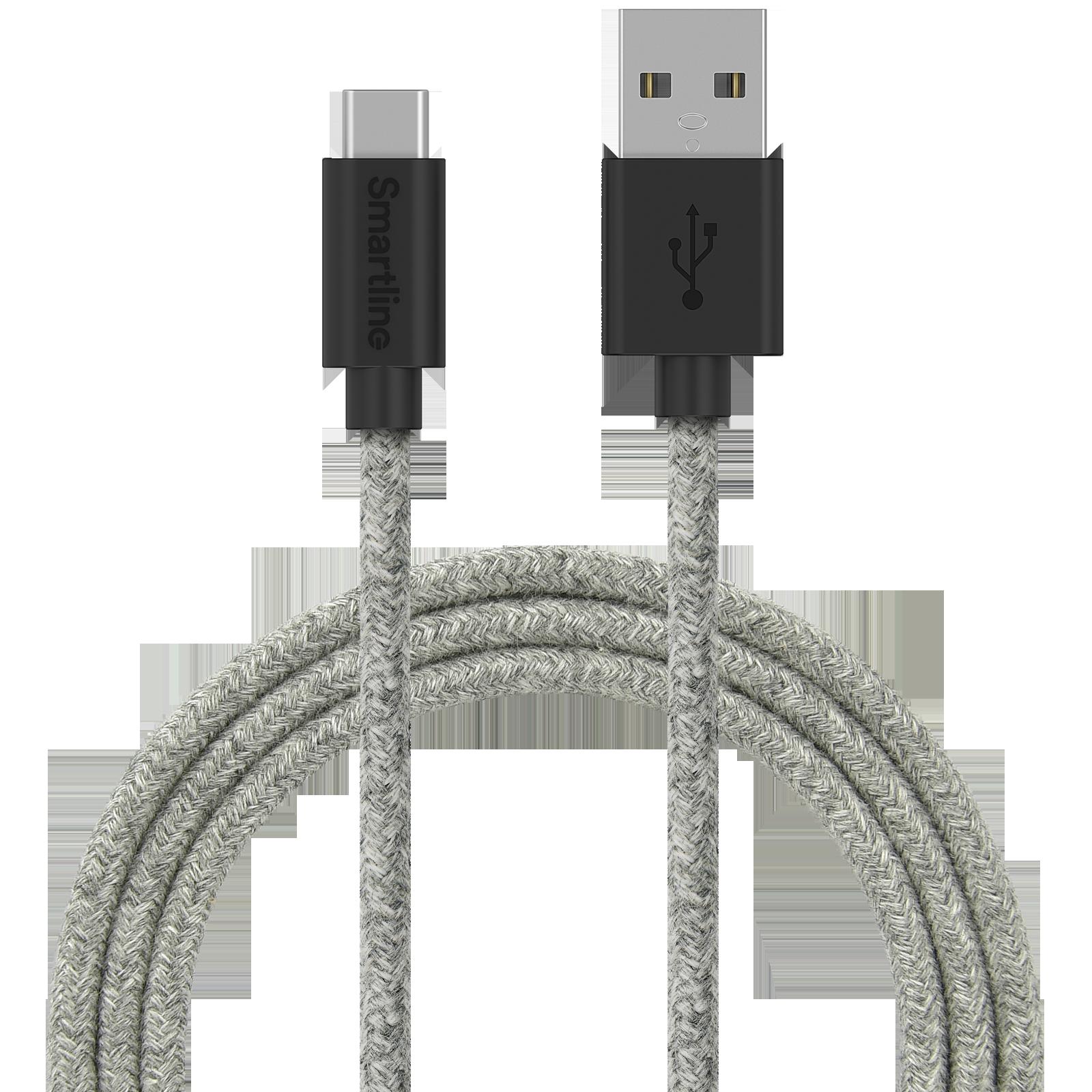 Fuzzy USB-kabel USB-C 2m Grå