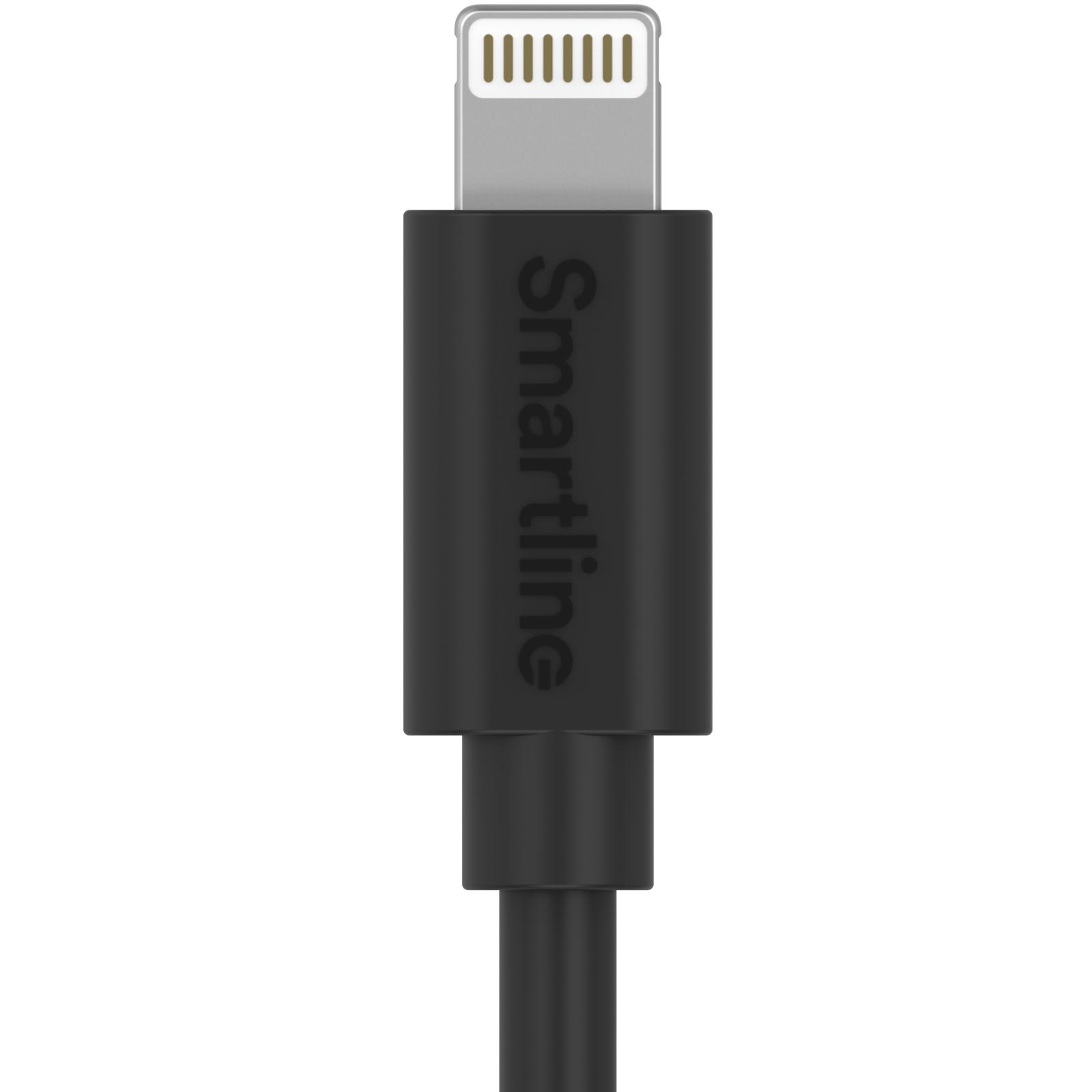 USB-kabel Lightning 2m Svart