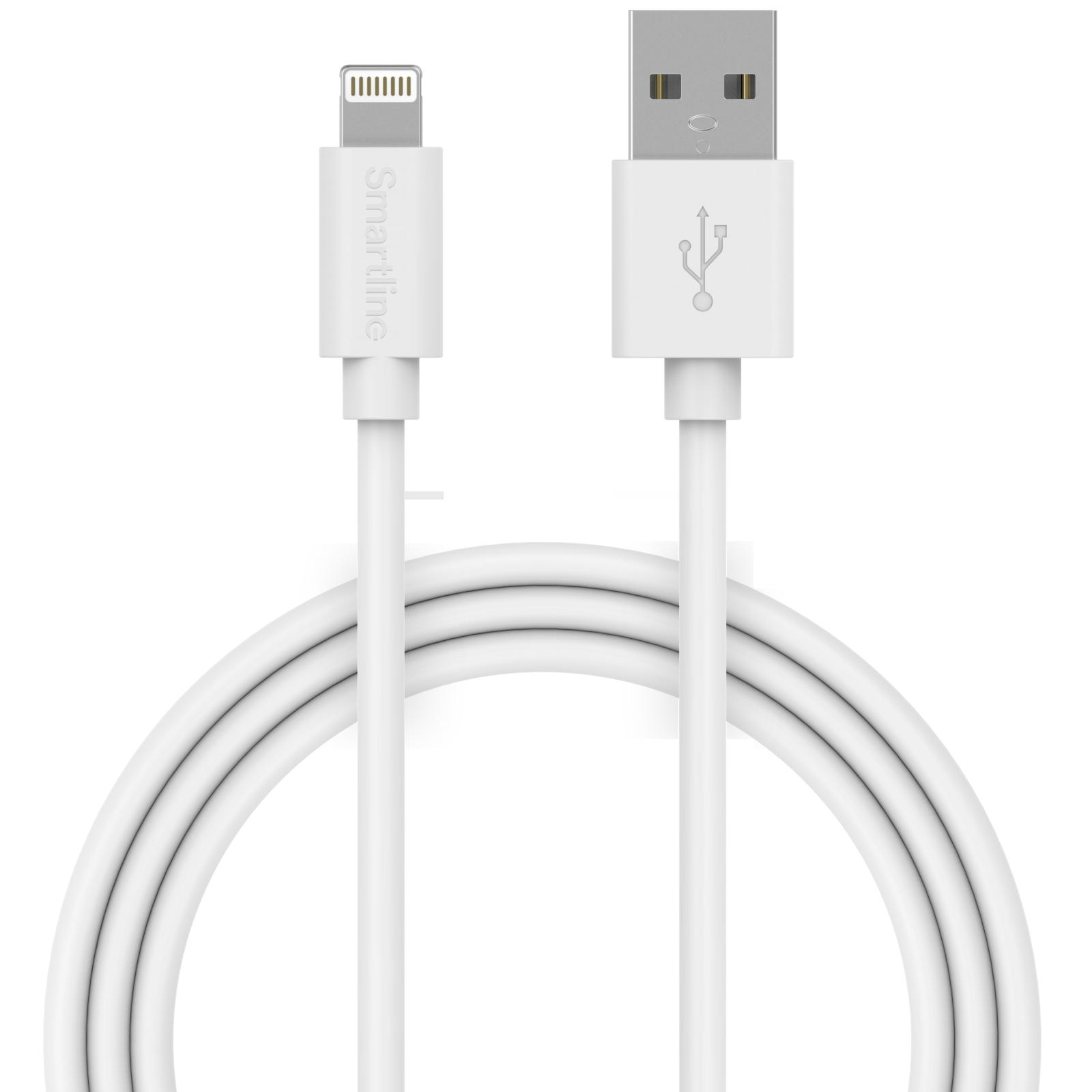 USB-kabel Lightning 2m Vit