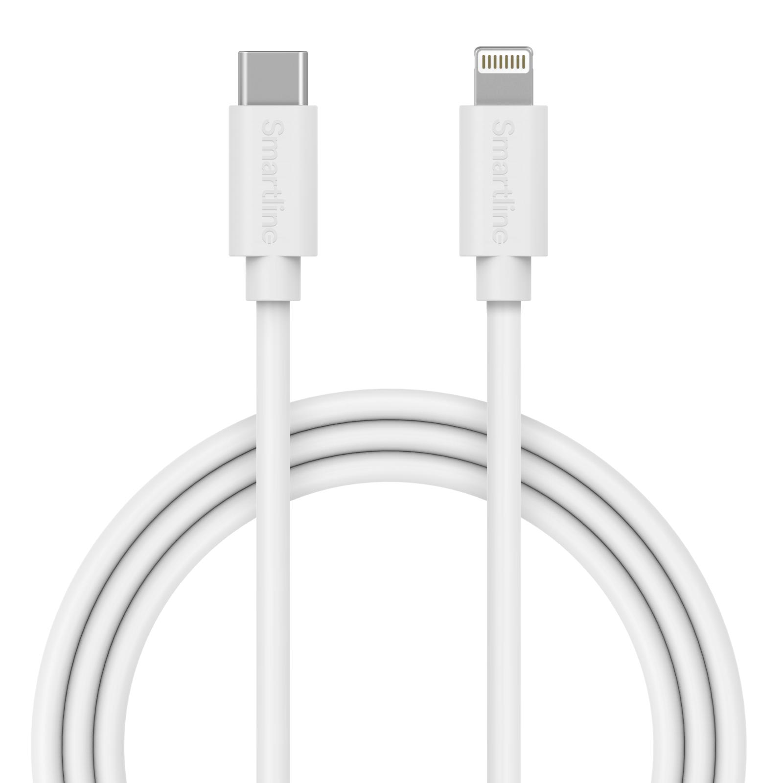 USB-kabel USB-C -> Lightning 2m Vit
