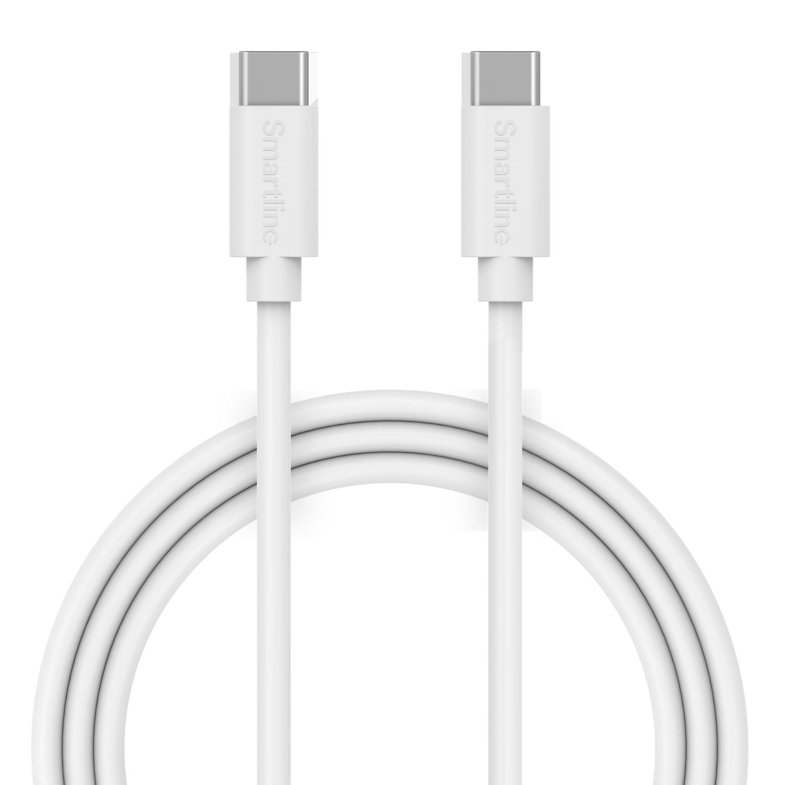 USB-kabel USB-C - USB-C 2m Vit