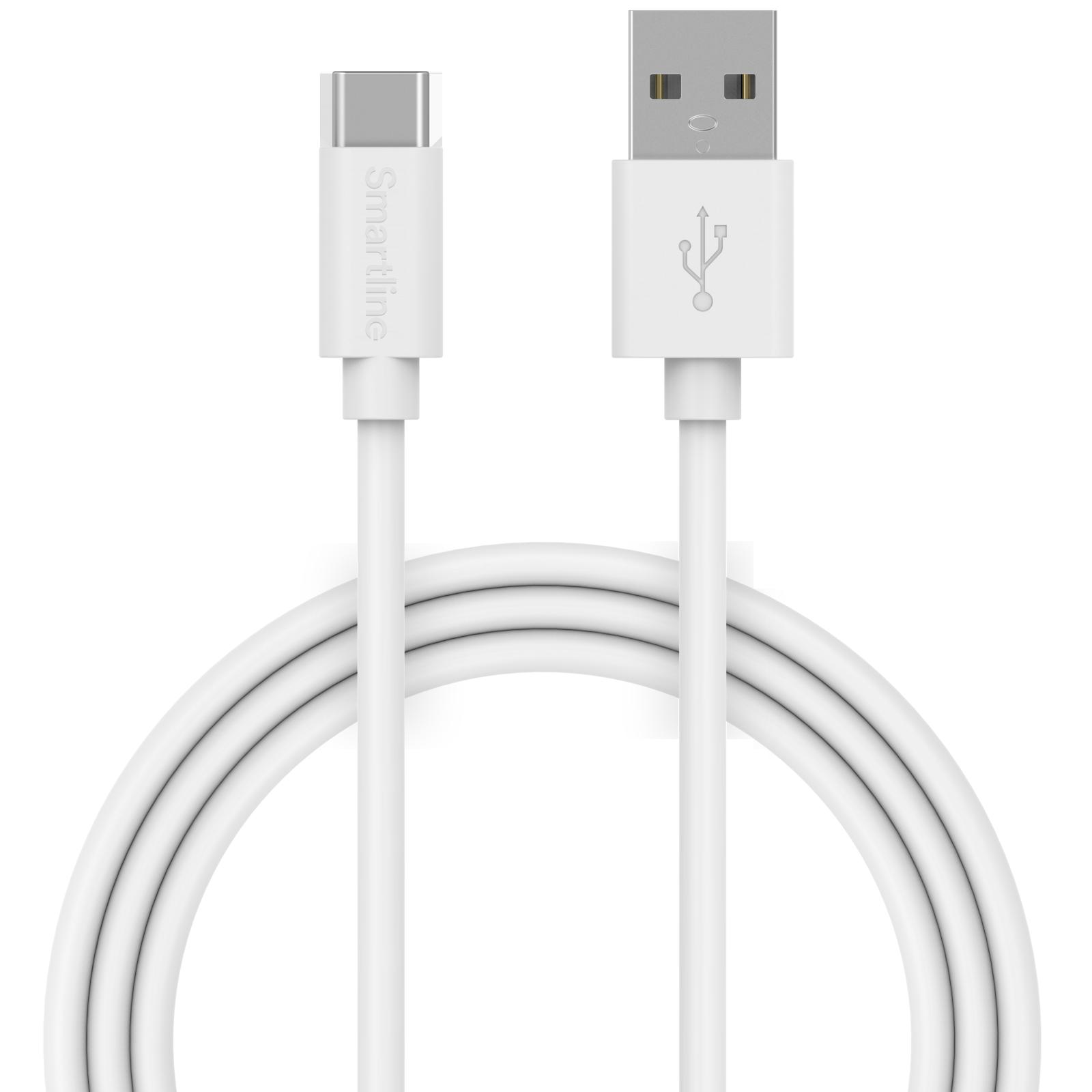 USB-kabel USB-C 2m Vit