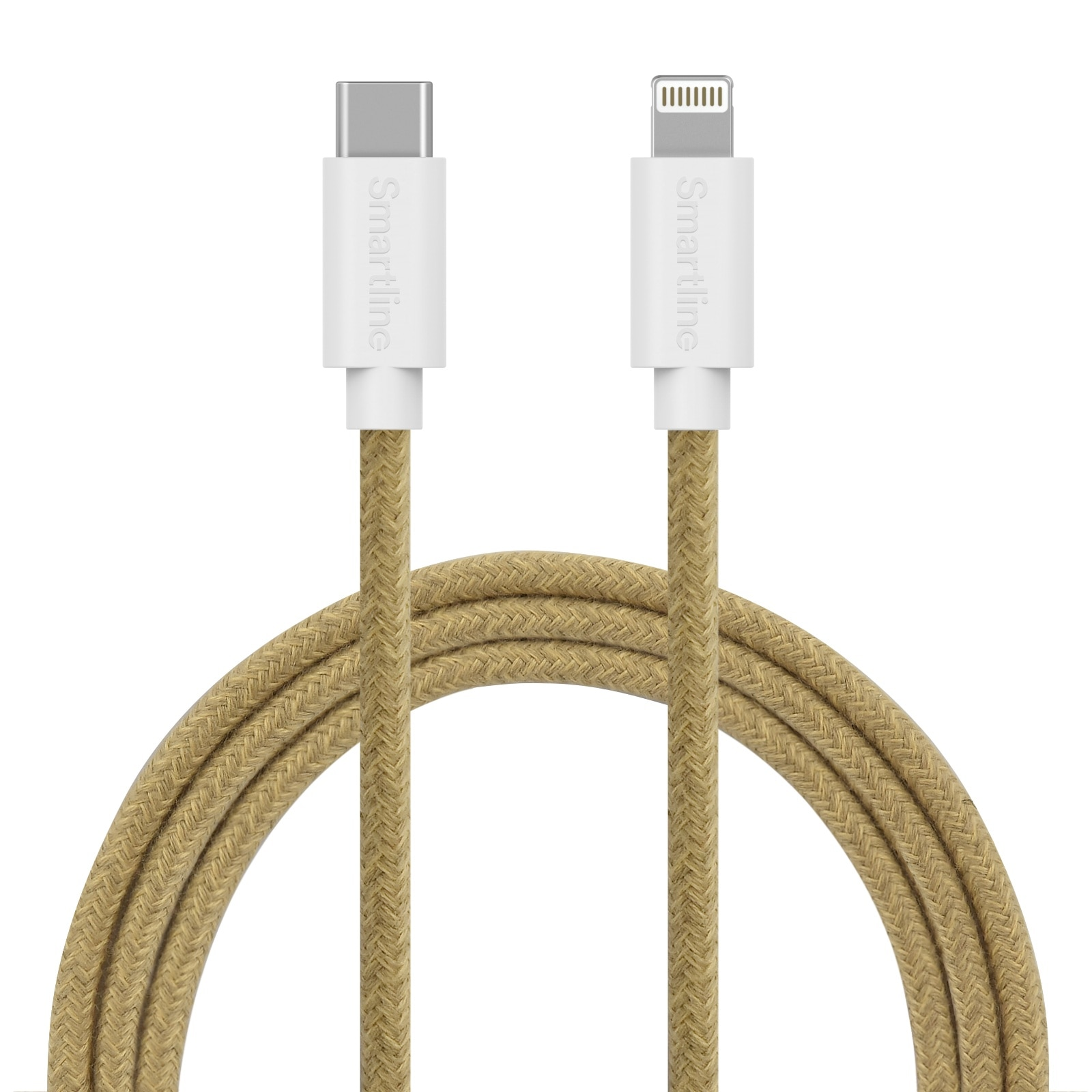 Fuzzy USB-kabel USB-C -> Lightning 2m Sand
