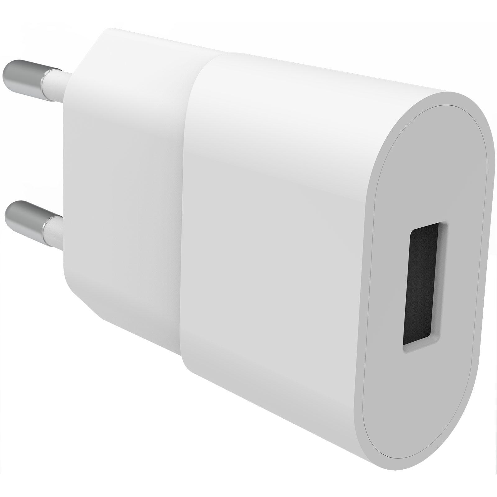 USB Väggladdare 1A Vit